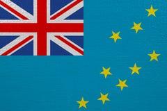 Tuvalu flag on canvas. Patriotic background. National flag of Tuvalu vector illustration