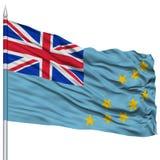 Tuvalu Flag on Flagpole Stock Photos