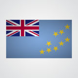 Tuvalu flag on a gray background. Vector illustration Royalty Free Stock Images
