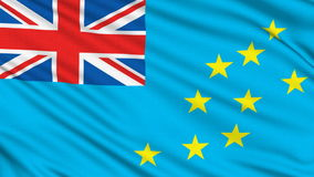 Tuvalu Flag. Tuvalu Flag, with real structure of a fabric stock video