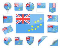Tuvalu Flag Vector Set. Tuvalu Flag Set - Vector Illustration Royalty Free Stock Photography