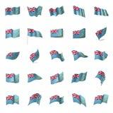 Tuvalu flag, vector illustration Stock Photo