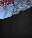 Tuvalu Flag Vintage on a Grunge Black Chalkboard Stock Photo