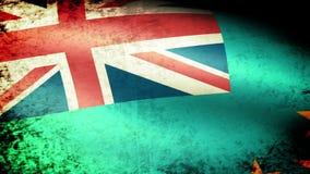 Tuvalu Flag Waving, grunge look. Tuvalu Flag Waving grunge look, video footage stock video footage