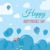 Tuvalu Independence Day Flat Patriotic Design. Royalty Free Stock Photos