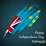 Tuvalu Independence Day Patriotic Design. Stock Photo