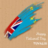 Tuvalu Independence Day Patriotic Design. Stock Image