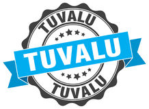 Tuvalu round ribbon seal Stock Photography