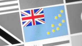 Tuvalu-Staatsflagge des Landes Flagge auf der Anzeige, ein digitaler Wässerungseffekt stockbild