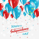 Tuvalu Vector Patriotic Poster. Independence Day. Royalty Free Stock Photo