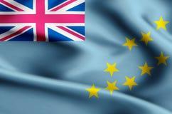 Tuvalu flag illustration stock illustration