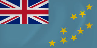 Tuvalu waving flag Royalty Free Stock Image