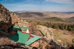 Tuvkhun修道院,蒙古 图库摄影
