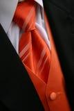 Tux arancione del legame Fotografia Stock