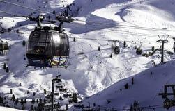 Tux Tyrol, Schwaz, Österrike - Februari 12 2015: Skidar semesterorten på den Hintertux glaciären Arkivbilder