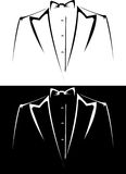 Tuxedo. Vector series. tuxedo with bow tie on a black and white background Stock Image