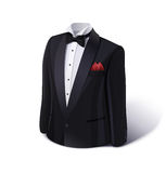 Tuxedo and bow. Stylish suit. Stock Photography