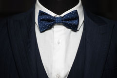 Tuxedo and bow tie on the unrecognizable person Royalty Free Stock Photography