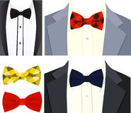 Tuxedo and bow-tie vector image. Vector image of a tuxedo and bow tie for use in postcards and other promotional materials Royalty Free Stock Photos