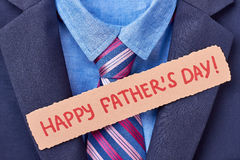 Tuxedo and Father`s Day card. Royalty Free Stock Photography