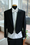 Tuxedo made in Italy. Tuxedo with shirt and white bow-tie royalty free stock image