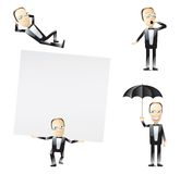 Tuxedo men illustration Stock Images