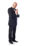 Tuxedo praying Royalty Free Stock Image