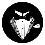 Tuxedo Round Icon Stock Image