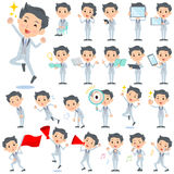 Tuxedo Silver short hair man 2 stock illustration
