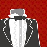 Tuxedo suit background Royalty Free Stock Images