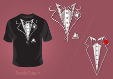 Tuxedo t-shirt vector design Royalty Free Stock Photo