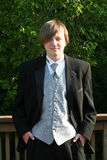 Tuxedo Teen Confident Portrait Stock Photography