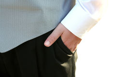 Tuxedo Teen Hand In Pocket Closeup Royalty Free Stock Photos