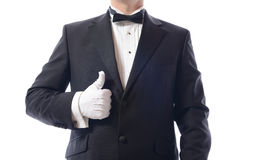 Tuxedo thumbs up Stock Photography