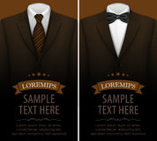 Tuxedo vector background with bow tie Stock Images