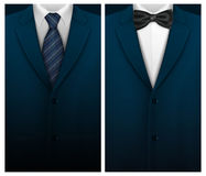 Tuxedo vector background with bow tie Stock Photography