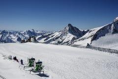 Tuxer Ferner冰川在奥地利, 2015年 免版税库存图片