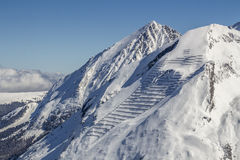 Tuxer Ferner Glacier in Austria, 2015 royalty free stock images