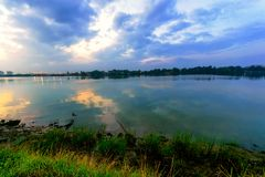 Tuxpan河,墨西哥 库存图片