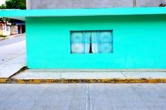 Tuxpan, Mexico. A colorful building at Tuxpan, Mexico at Veracruz stock image