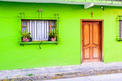 Tuxpan, Mexico. A colorful building at Tuxpan, Mexico at Veracruz royalty free stock image
