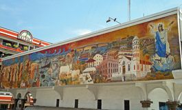 Tuxpan, Veracruz, Mexico. An artistic mural located in Tuxpan, Veracruz, Mexico stock images