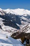 Tuxtalvallei in Oostenrijkse Alpen Royalty-vrije Stock Foto's