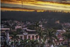 Tuxtla Veracruz d'en Santiago d'Atardecer photo stock