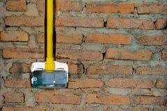 Tuyau électrique jaune de conduit de PVC Photographie stock libre de droits