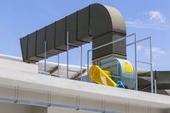 Tuyau d'air, grand système de ventilation d'air Image stock
