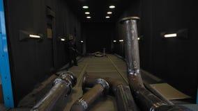 Tuyau de gaz se déplaçant pour sabler clips vidéos