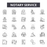 Tuyau de service de notaire icônes, signes, ensemble de vecteur, concept d'illustration d'ensemble illustration de vecteur