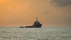 Tuyau de transfert de bateau Photographie stock