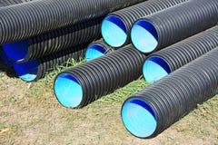 Tuyau empilé de PVC photos libres de droits